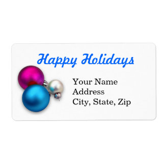 Christmas ornaments shipping label