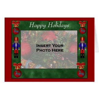 Christmas Ornaments Nutcrackers Holiday Photo Card