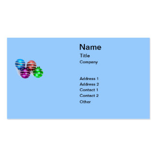 Christmas Ornaments Pack Of Standard Business Cards