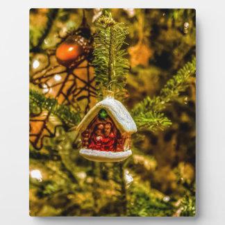 Christmas ornaments plaque