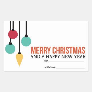 Christmas Ornaments Rectangular Sticker