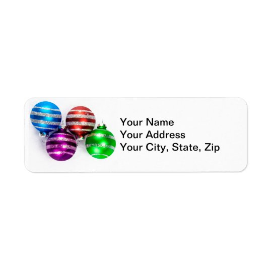 Christmas Ornaments Return Address Label