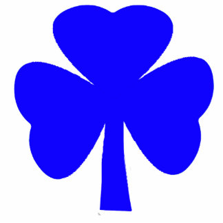 Christmas Ornaments Shamrock Blue Cut Outs
