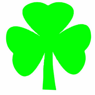 Christmas Ornaments Shamrock Green White Photo Cut Outs