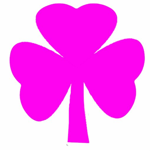 Christmas Ornaments Shamrock Magenta Photo Sculpture Decoration