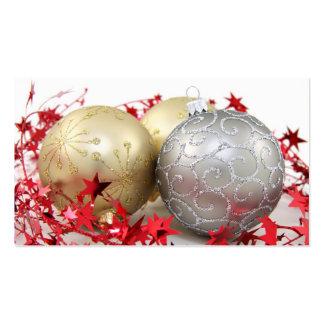 Christmas Ornaments Sparkle Business Card Template