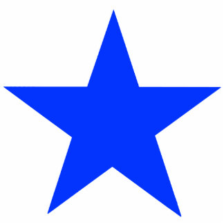Christmas Ornaments Star Blue Acrylic Cut Outs