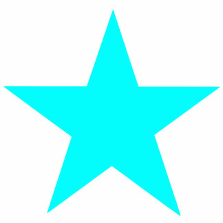 Christmas Ornaments Star Cyan Photo Cut Out