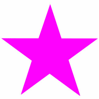 Christmas Ornaments Star Magenta Cut Out