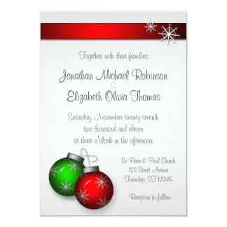 Christmas Ornaments Wedding Invitations