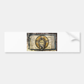 Christmas orthodox icon Jesus holy handkerchief Bumper Sticker