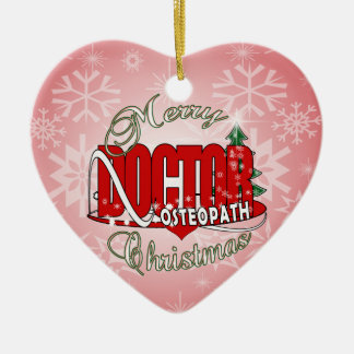 CHRISTMAS OSTEOPATH DOCTOR CERAMIC ORNAMENT