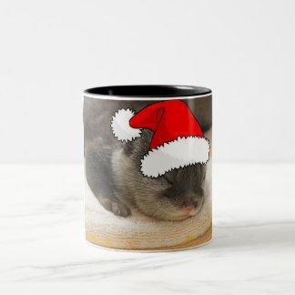 Christmas Otter Two-Tone Coffee Mug