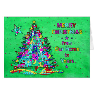 Christmas, Our Home to Yours, Calico Tree Card