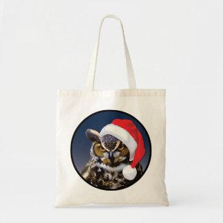 Christmas Owl - Budget Tote Budget Tote Bag