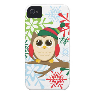 Christmas owl iPhone 4 case