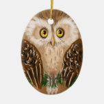 Christmas owl christmas tree ornament