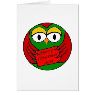 Christmas Owl Greeting Card