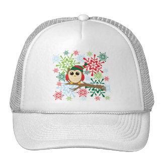 Christmas owl trucker hats