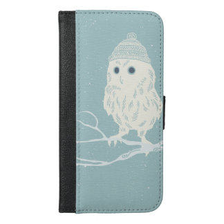 Christmas owl on tree branch - Xmas iPhone 6/6s Plus Wallet Case