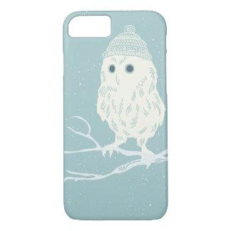 Christmas owl on tree branch - Xmas iPhone 8/7 Case