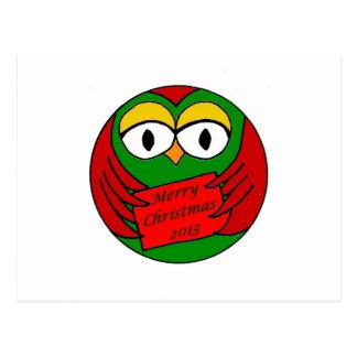 Christmas Owl Postcard