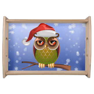 Christmas Owl Serving Tray