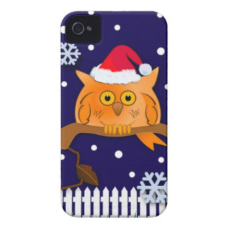 Christmas Owl Snow Blackberry bold case iPhone 4 Cases