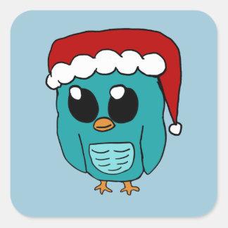 Christmas Owl Square Sticker