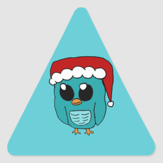 Christmas Owl Triangle Stickers