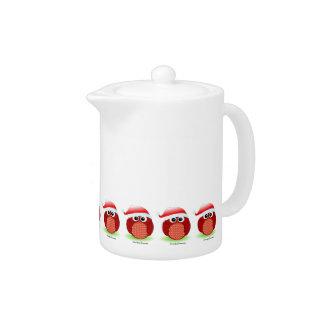 Christmas owl teapot
