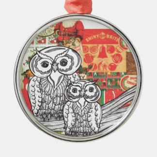 Christmas Owls 2 Christmas Tree Ornament