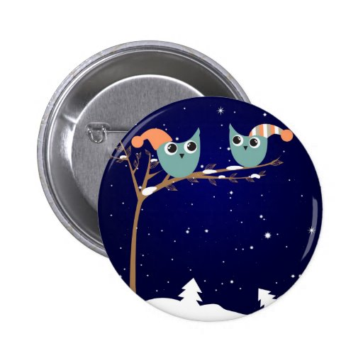 christmas owls button