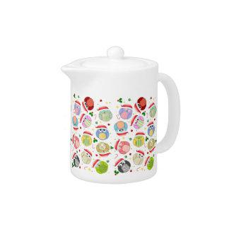 Christmas Owls teapot
