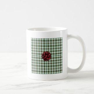 Christmas package red bow basic white mug