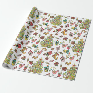 Christmas Paisley Wrapping Paper