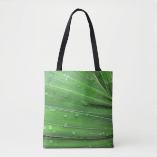 Christmas Palm and Raindrops Tote Bag