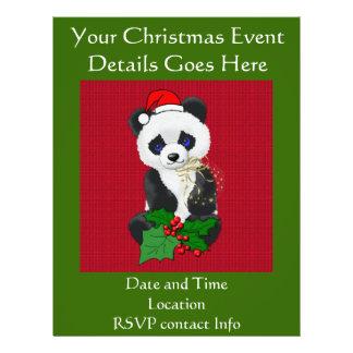 Christmas Panda 21.5 Cm X 28 Cm Flyer