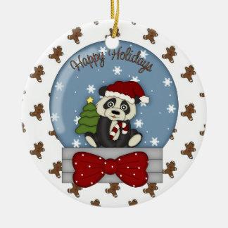 Christmas Panda Bear ornament