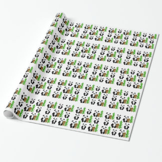 Christmas Panda Bears Wrapping Paper