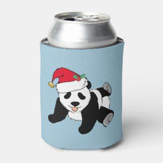 Christmas Panda Can Cooler