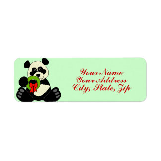 Christmas Panda Return Address Label