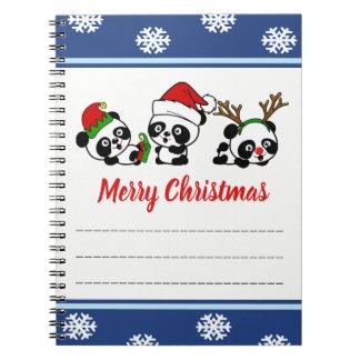 Christmas Pandas Notebook