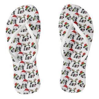 Christmas Pandas Thongs