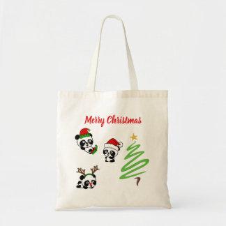 Christmas Pandas Tote Bag