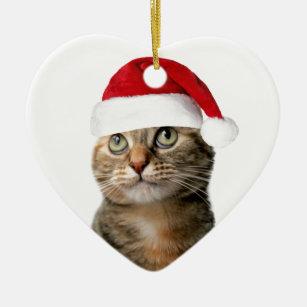 Christmas Pansy Ceramic Ornament