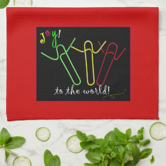 Christmas Paper Clips towel