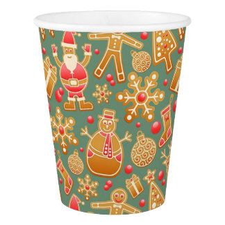 Christmas Paper Cups/Santa and Friends Paper Cup