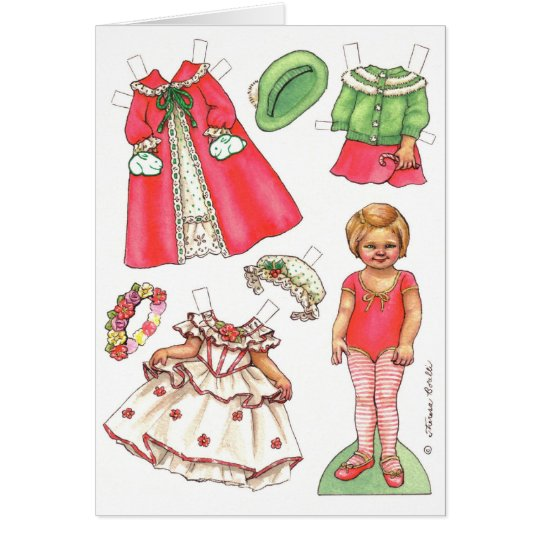 Christmas paper doll card