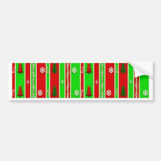 Christmas Paper Pattern Bumper Sticker